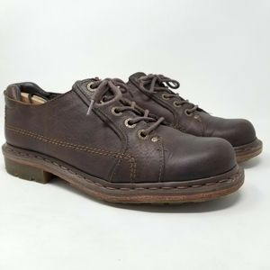 Dr Martens Brown Leather Lace Up Oxford Shoes